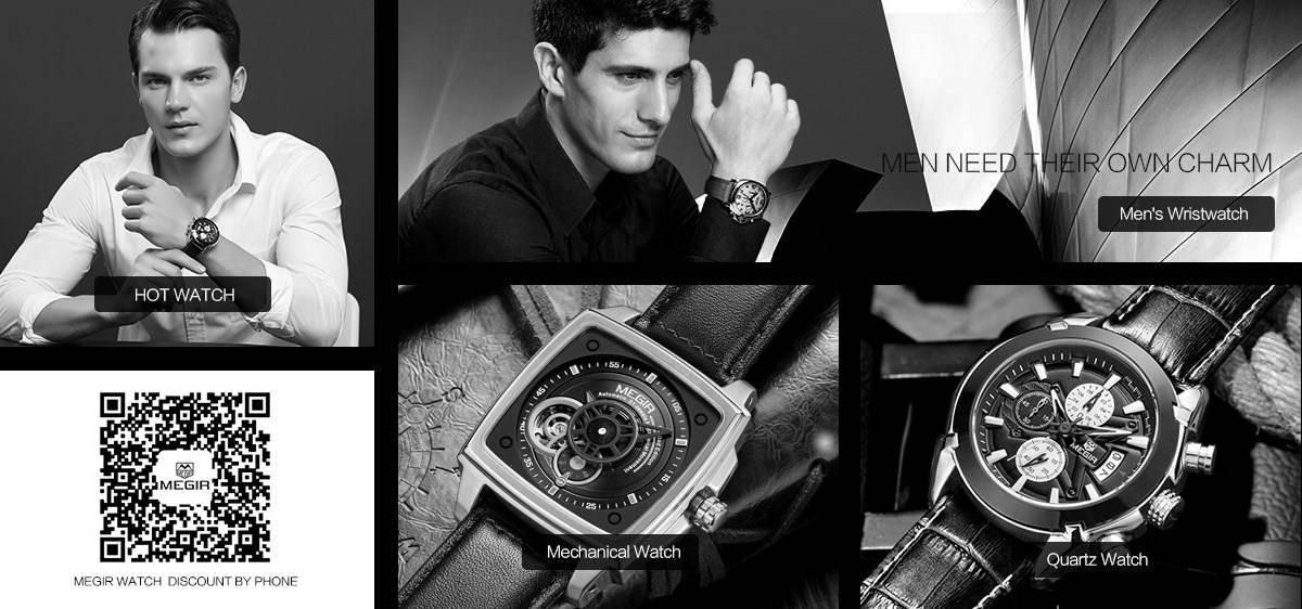 31f43188c8cd 2018 Лучшие Мужские Часы Megir - Официальный Сайт и Цены