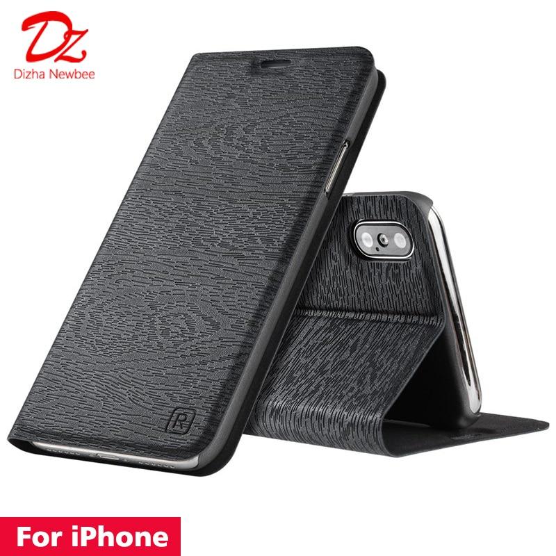 Для iphone XR X XS MAX 10 6 6s 7 8 Plus кожаный чехол для Apple iphone 5 5S SE PU откидная крышка Слот для Карт Подставка