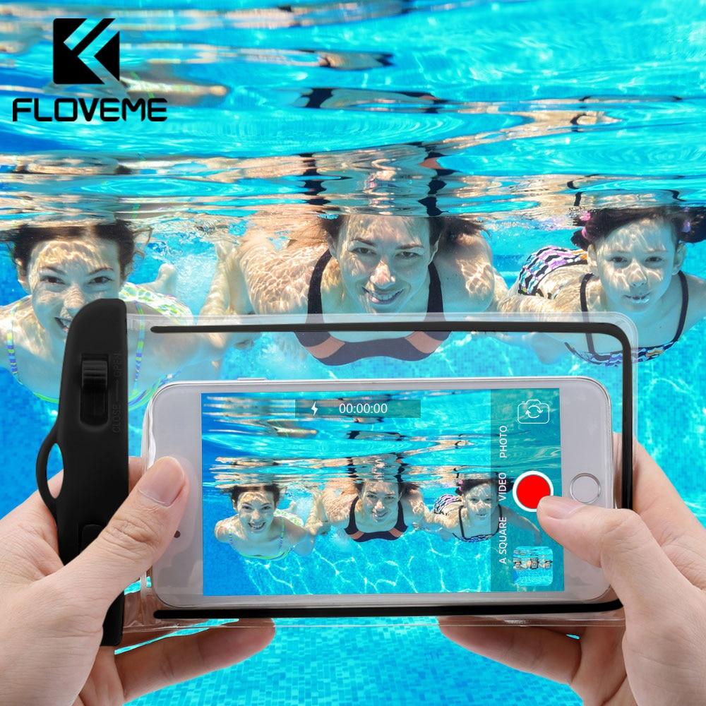 """FLOVEME водонепроницаемый чехол для смартфона сумка для телефона 6,0 """"Подводный светящийся чехол для телефона iPhone XR huawei Xiaomi Универсальный"""