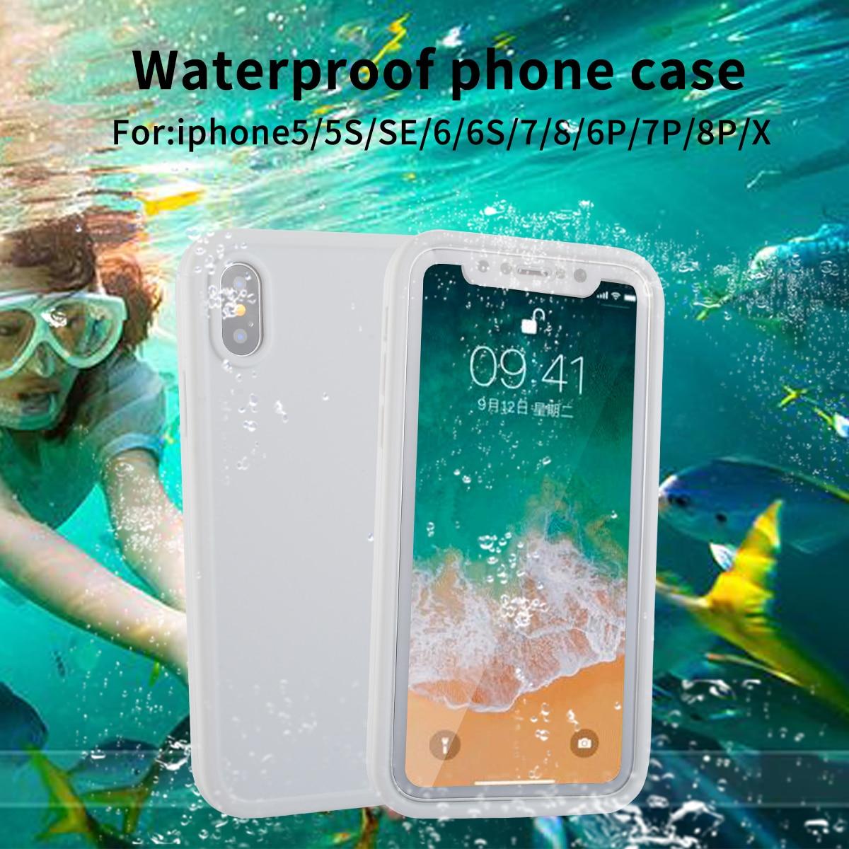 IP68 настоящий водонепроницаемый чехол для iPhone X 8 7 Plus 6 6 S Plus полная защита чехол для iPhone 5 5S XR XS Max