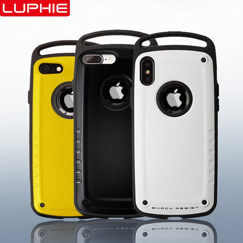 LUPHIE Гибридный ударопрочный чехол для iPhone X XS Max XR сверхмощный защитный чехол для iPhone X S 8 7 Plus жесткий силиконовый чехол спортивная крышка