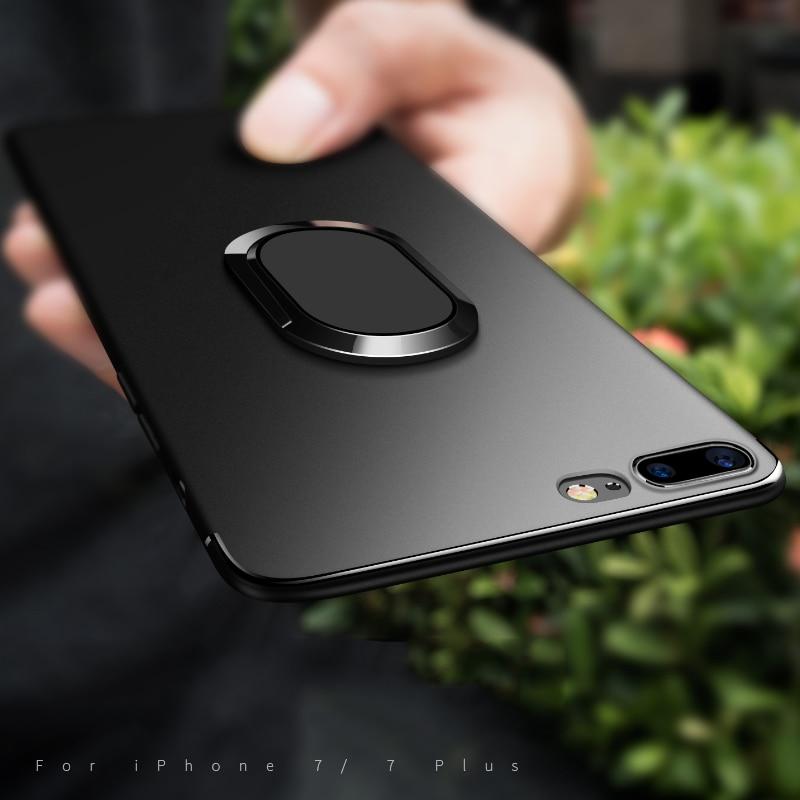Makavo для iphone6, iphone6s, iphone7 Plus чехол для телефона Автомобильный держатель Магнитный чехол с откидной подставкой для iPhone 8 X с палец кольцо Стен...