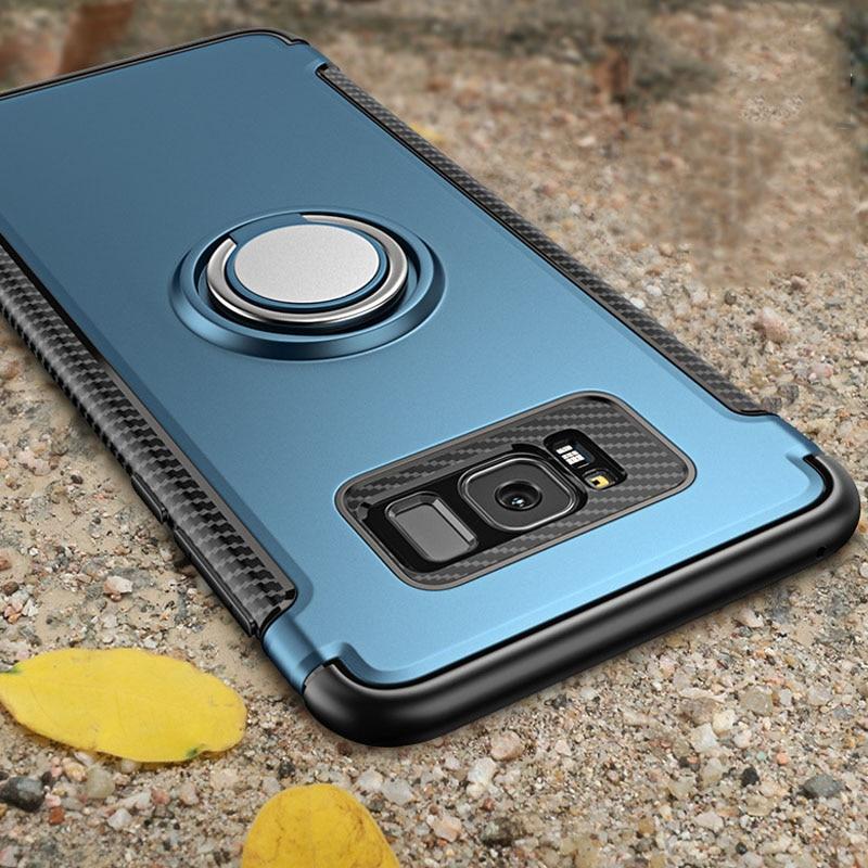 Противоударный бронированный чехол для samsung Galaxy Note 8 S8 Plus S7 S6 edge Автомобильная кольцевая крышка-держатель для iphone X 8 7 6 6s Plus
