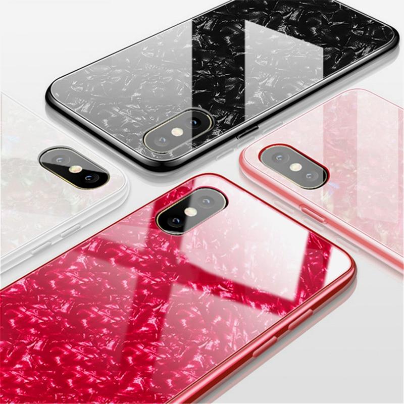Роскошные ракушка противоударное закаленное Стекло чехол для iPhone 7 Plus, 8, 6, 6s X XS max XR противоударный ТПУ со сплошным задником чехол Capa