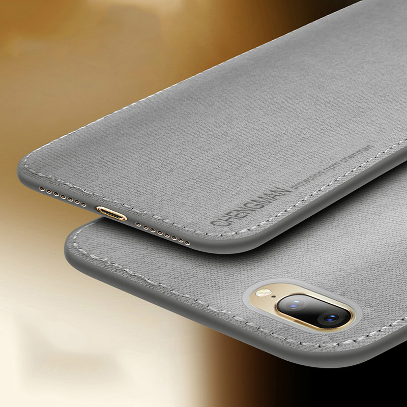 Старинная ткань, чехлы для телефонов iPhone 7, 8 Plus, ультра тонкий деловой тканевый Мягкий защитный чехол для iPhone XS Max XS X XR 6 6 S