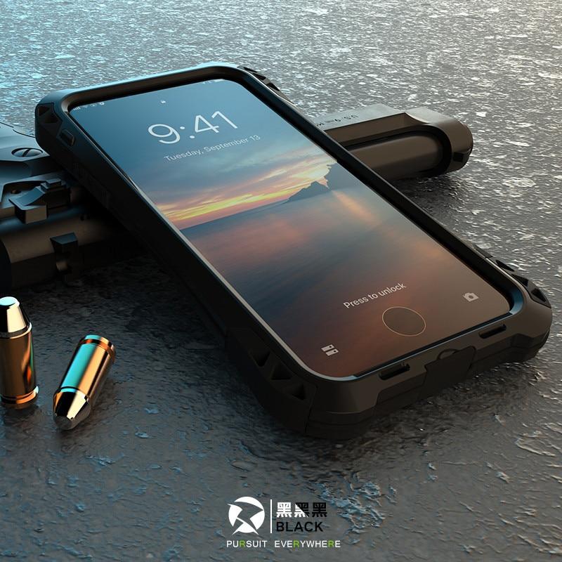 Ударопрочный пылезащитный чехол из углеродного волокна Gorilla из закаленного стекла и алюминия, чехол для iPhone 7 8 6 S 6 Plus 5 5S SE