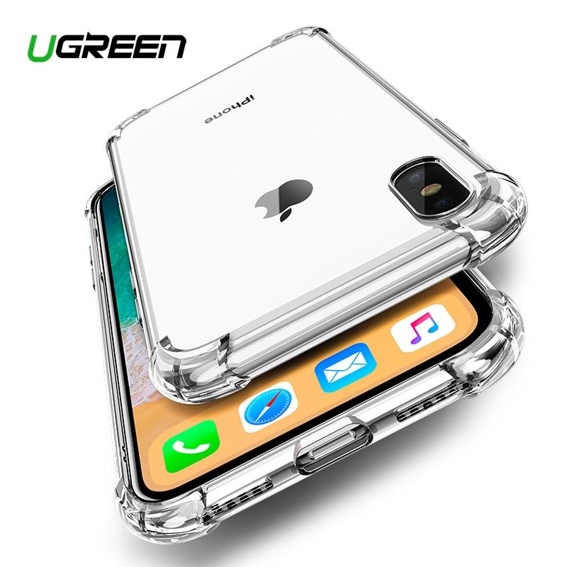 Ugreen чехол для iPhone 7 8 Plus Чехол ударопрочный задняя крышка для iPhone X Xs Max чехол для телефона HD прозрачный защитный чехол для iPhone 7