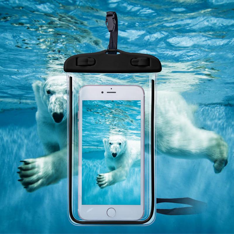 Универсальный чехол водостойкий Телефон чехол для iPhone 7 6 S Водонепроницаемый чехол водостойкая сумка чехол для Samsung Galaxy S8 плавание водостой...