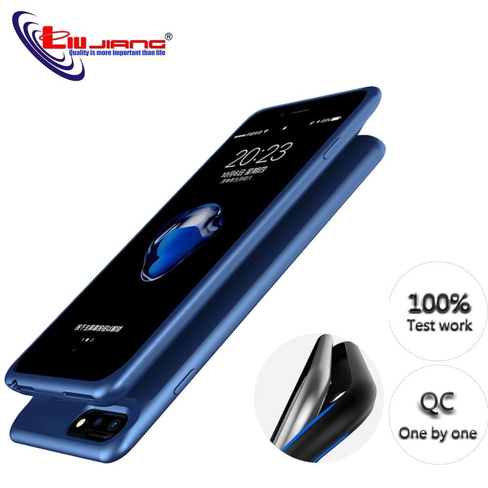 Зарядка от аккумулятора чехол для iPhone 6 6s 7 8 Plus 5000/7000 мАч запасное зарядное устройство чехол power Bank чехол ультра тонкий внешний пакет